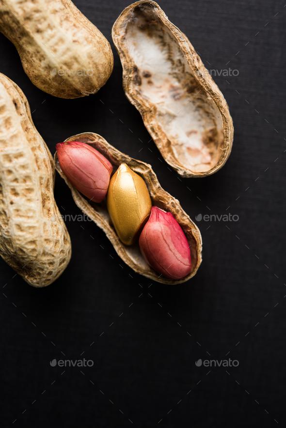 Golden Peanut - Value Concept - Stock Photo - Images
