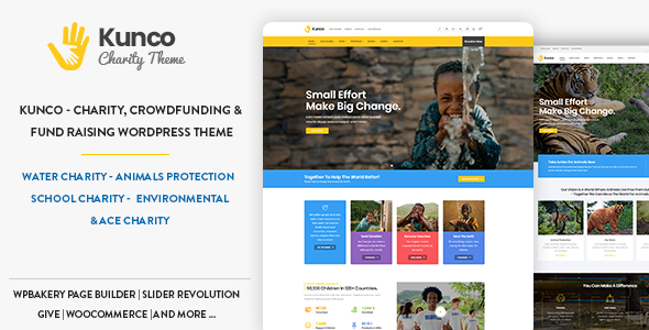 Kunco - Charity & Fundraising WordPress Theme