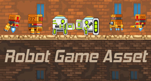 robot game asset