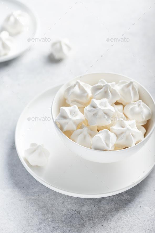 Sweet white meringue - Stock Photo - Images