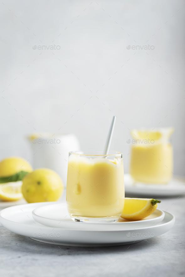 Sweet lemon curd - Stock Photo - Images