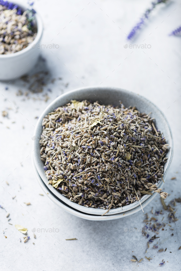 Dried lavender flowers - Stock Photo - Images