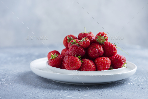 Red wild strawberry - Stock Photo - Images