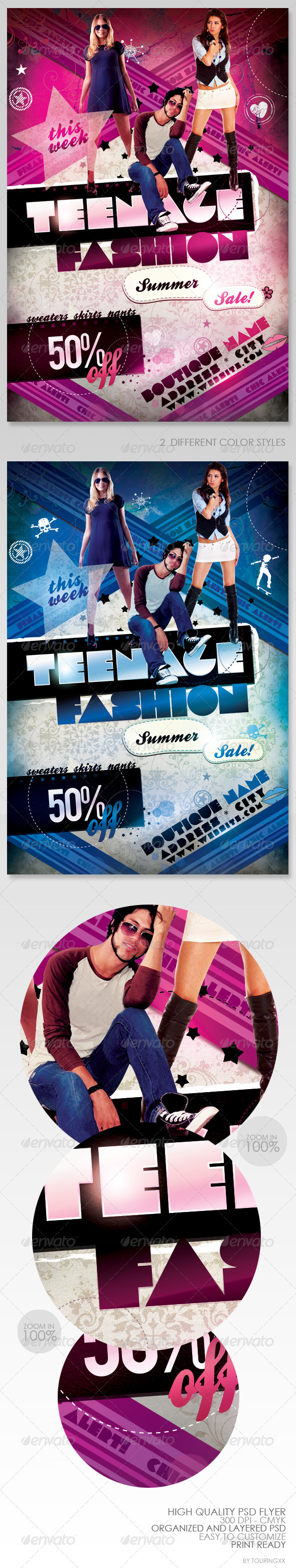 Teenage Fashion Flyer - Clubs & Parties Events