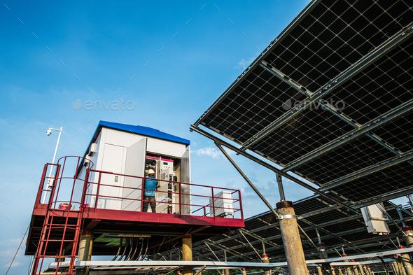 Solar generator set - Stock Photo - Images