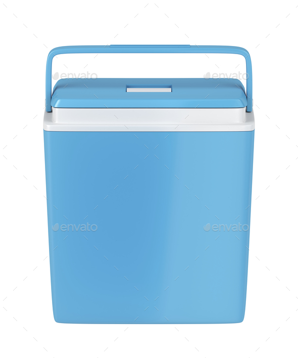 Blue cooling box - Stock Photo - Images