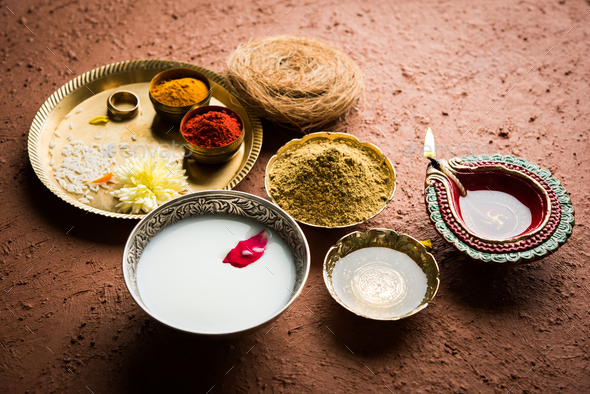 Abhyanga Snan OR Special Herbal Bath - Stock Photo - Images
