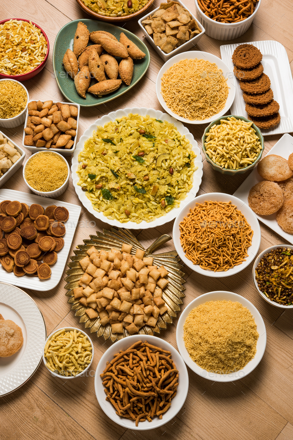 Group of Diwali Snacks - Stock Photo - Images