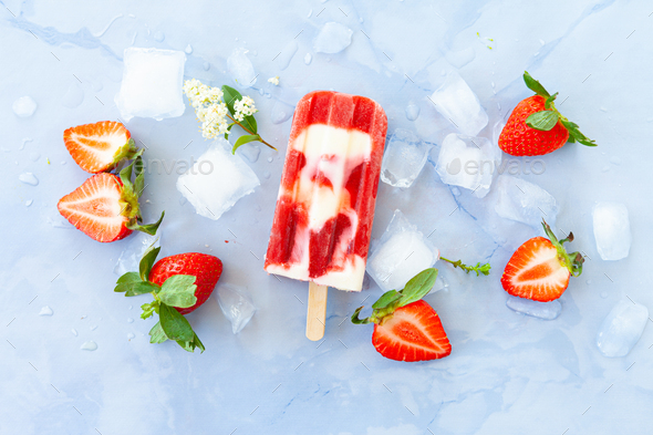 Homemade ice cream popsicles - Stock Photo - Images