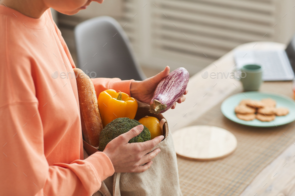 Woman buying fresh vegetables - Stock Photo - Images