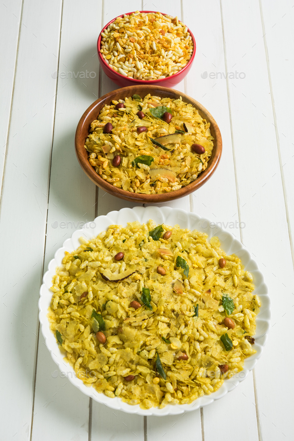Poha Chivda or Chivada - Stock Photo - Images