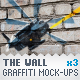 Wall - 3 Graffiti Street Art Mockups - GraphicRiver Item for Sale