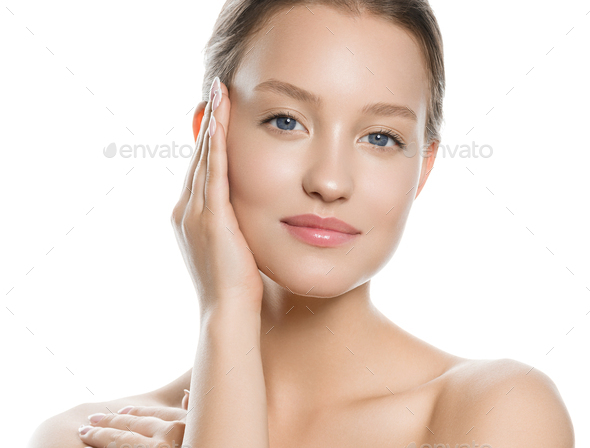 Fresh healthy skin woman spa concept - Stock Photo - Images