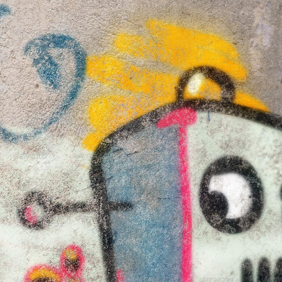 Wall - 3 Graffiti Street Art Mockups by Kontramax | GraphicRiver