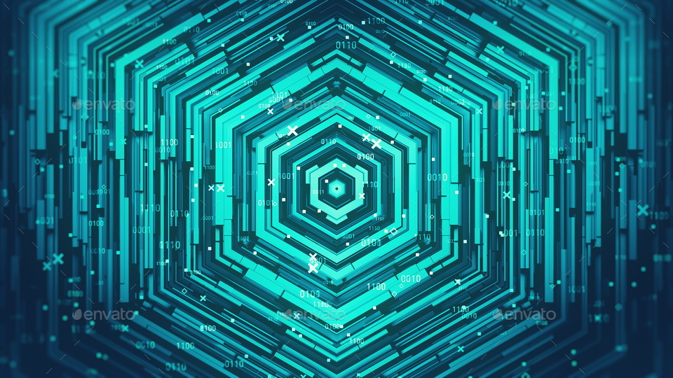 Hexagon Digital Data Technology Backgrounds By Provitaly Graphicriver