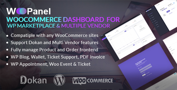 WooCommerce Dashboard for WP Marketplace & Multi Vendor