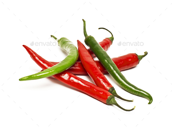 Chili pepper isolated on white background - Stock Photo - Images