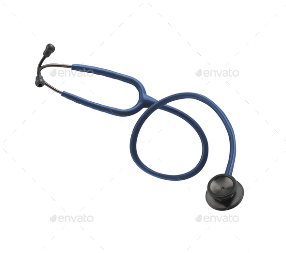 Stethoscop isolated on white background - Stock Photo - Images