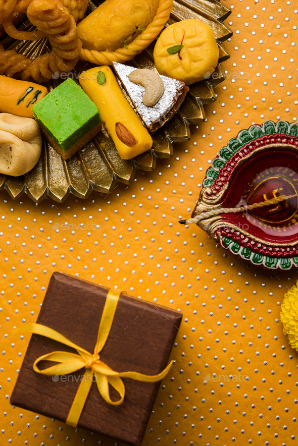 DIwali Snacks and Sweets - Stock Photo - Images