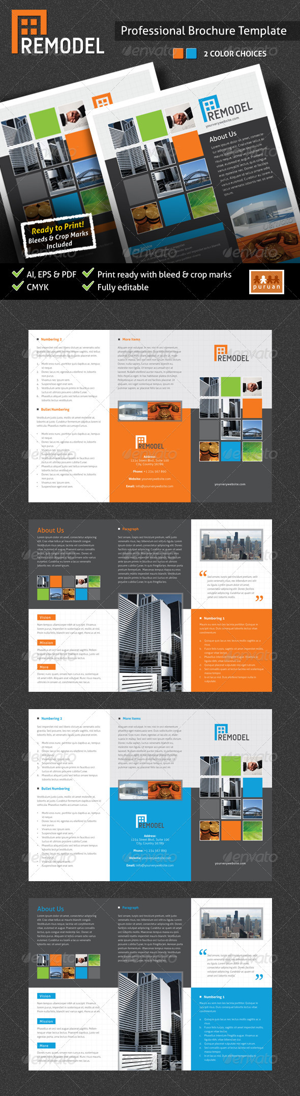 Remodel Brochure Template - Corporate Brochures