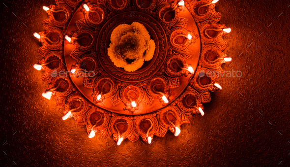 Diwali Diya - Stock Photo - Images