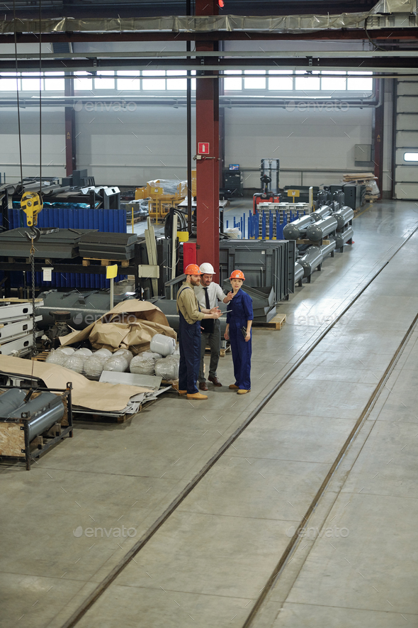 Employees of industrial plant - Stock Photo - Images