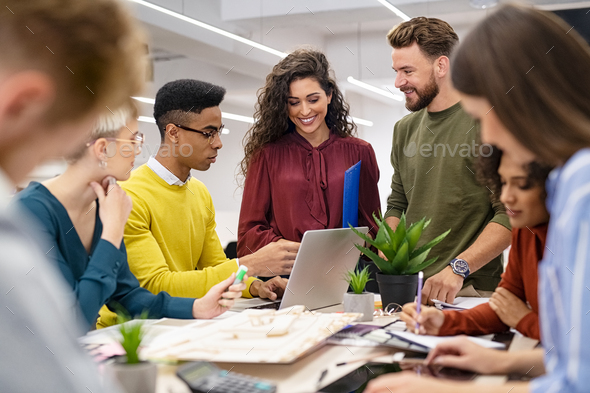 Group of creative people working together - Stock Photo - Images