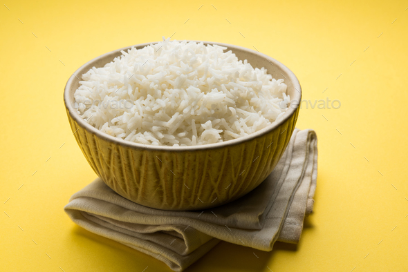 Cooked Plain Rice - Stock Photo - Images