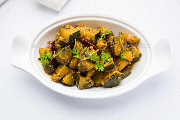Pumpkin Or Kaddu Sabzi - Stock Photo - Images