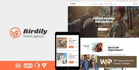 Birdily   Travel Agency & Tour Booking WordPress Theme