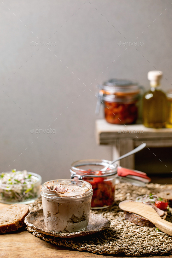 Chicken liver pate - Stock Photo - Images