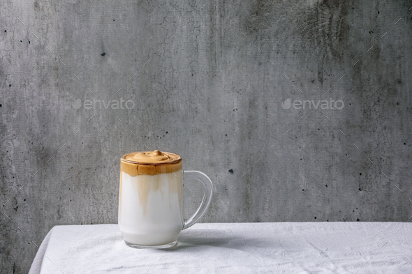 Dalgona frothy coffee - Stock Photo - Images