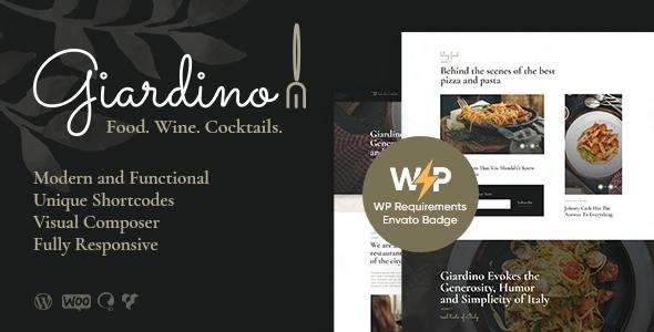 Nice Giardino | An Italian Restaurant & Cafe WordPress Theme