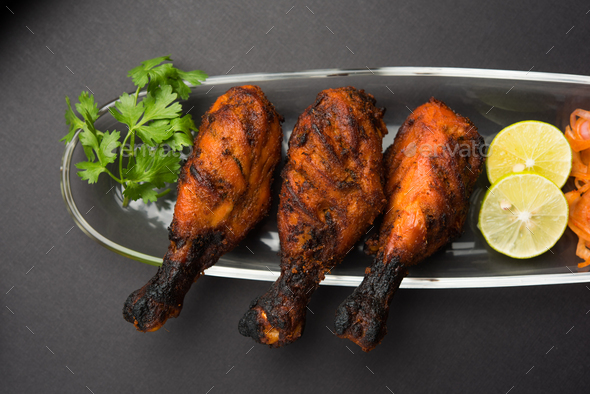 Chicken Tangri Kabab - Stock Photo - Images