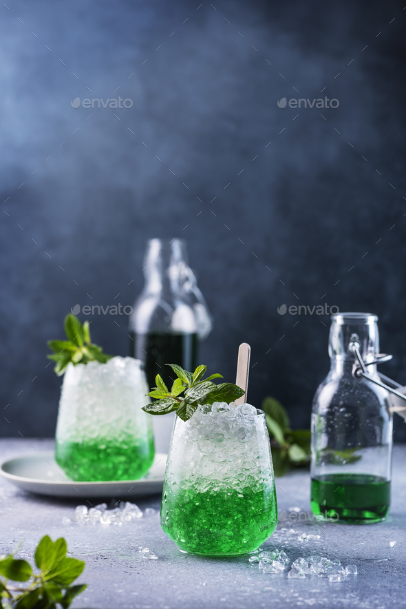 Summer cocktail with mint - Stock Photo - Images