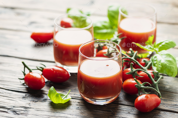 Fresh tomato juice - Stock Photo - Images