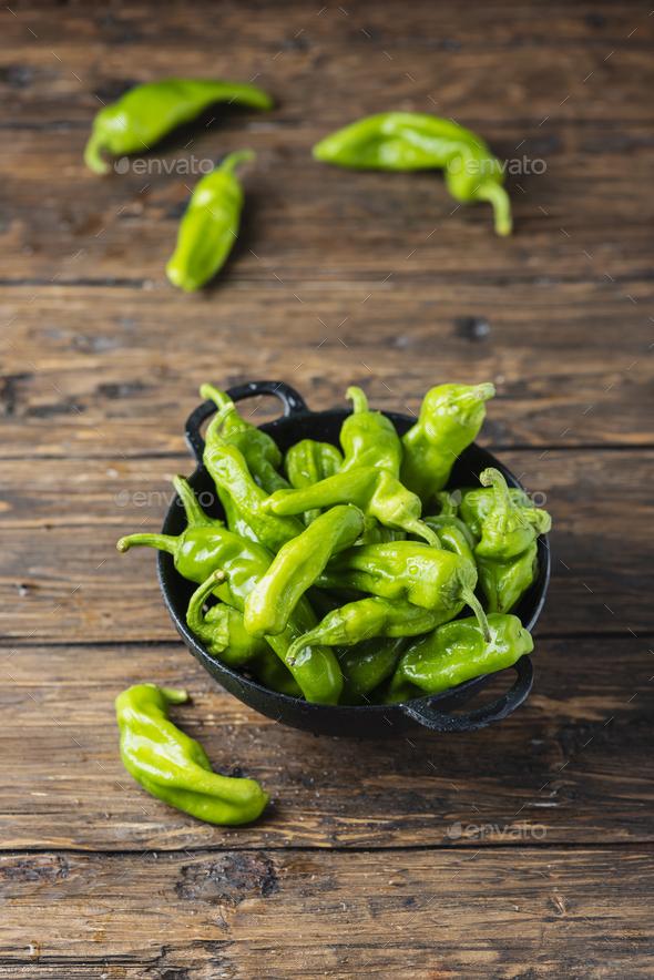 Sweet Italian green pepper - Stock Photo - Images