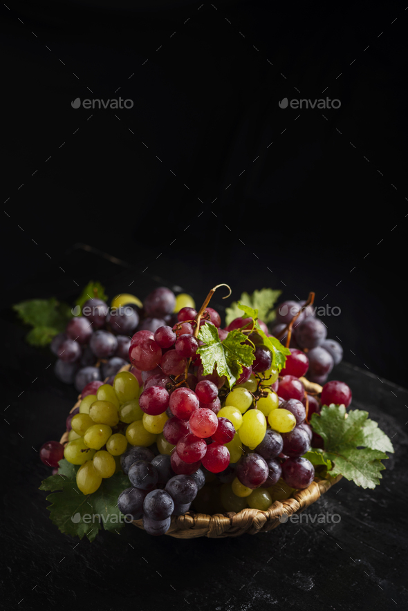 Mix of red and yellow grape - Stock Photo - Images