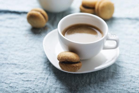 homemade italian hazelnut biscuits - Stock Photo - Images