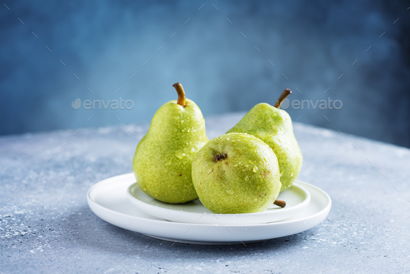 Sweet green pears - Stock Photo - Images