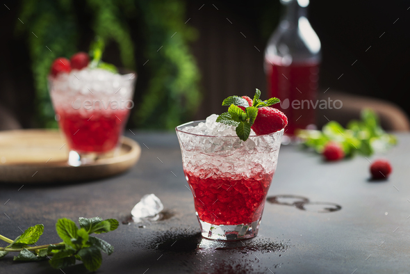 Gradient red cocktail - Stock Photo - Images