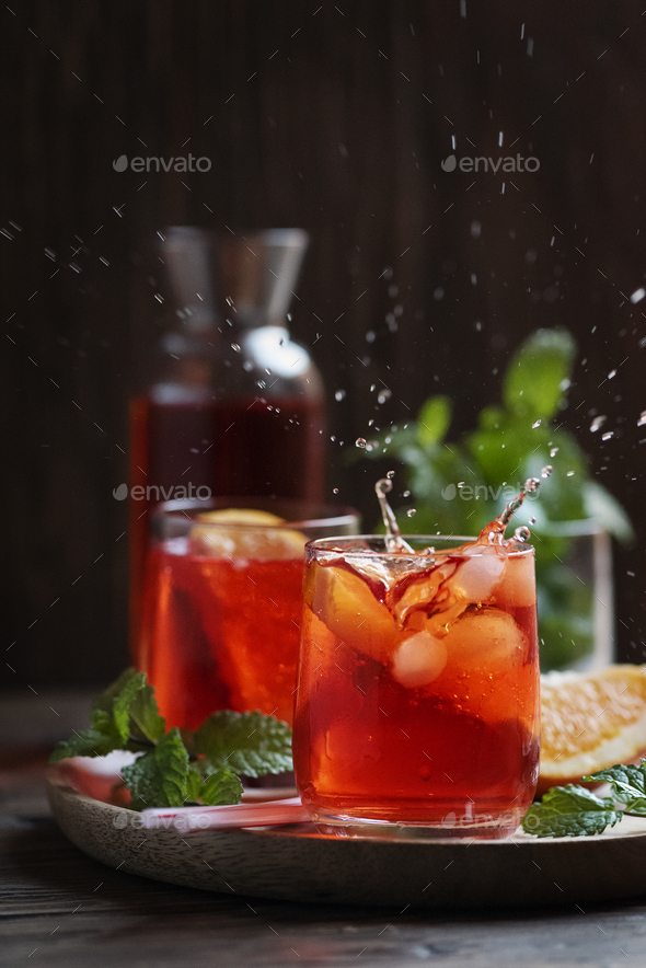 Glass with splash - Stock Photo - Images