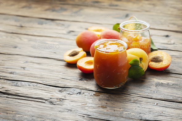 Homemade apricot jam - Stock Photo - Images