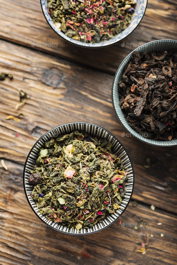 Set of different tea - Stock Photo - Images