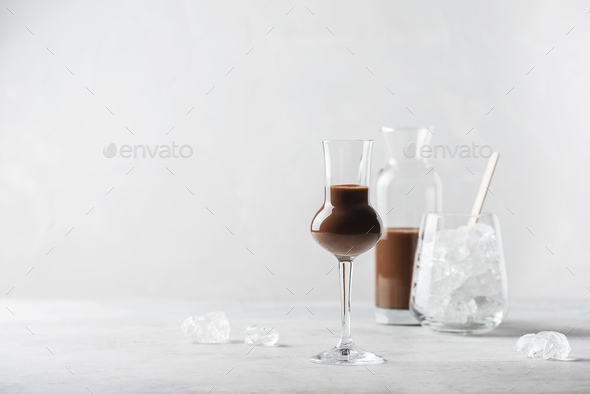 Sweet chocolate liqueur - Stock Photo - Images