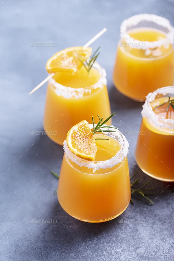 Glasses of orange juice - Stock Photo - Images