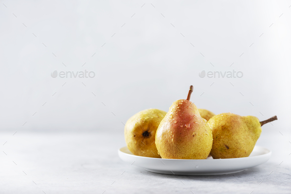 Sweet yellow pears - Stock Photo - Images