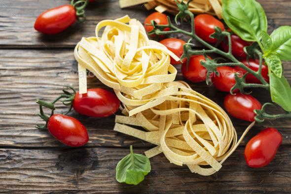 Traditional italian pasta fettuccine - Stock Photo - Images