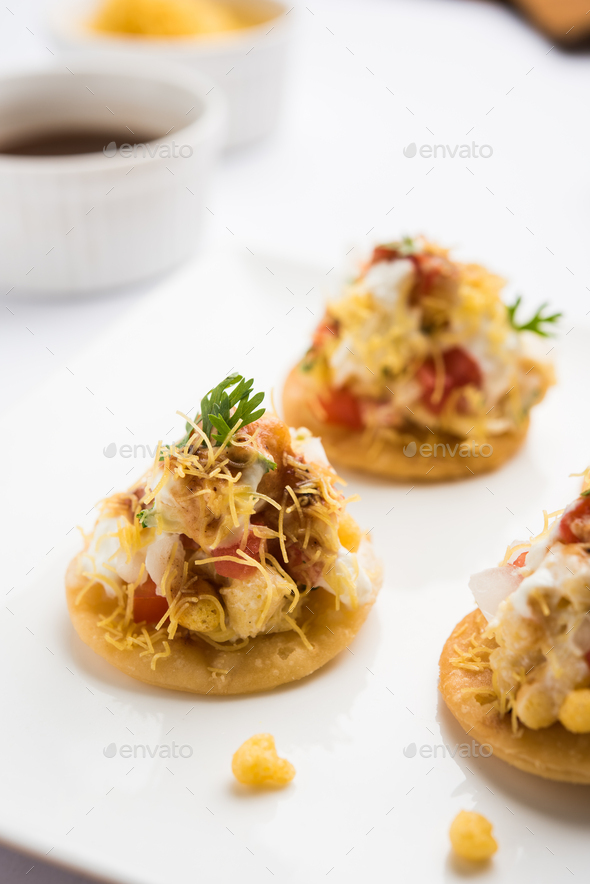Papri chat / Papri Chaat / Papdi Chat - Stock Photo - Images
