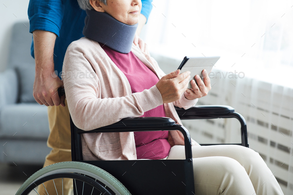 Senior woman after operation - Stock Photo - Images